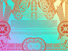 A Celtic Turn Ketubah