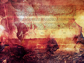 The Ethereal Landscape - Mars Ketubah