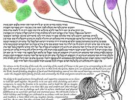 The Lovely View Ketubah