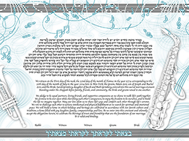 The Paper Tunes Ketubah