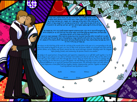 The Pride and Groom Ketubah