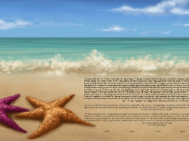 The Starfish Shore Ketubah