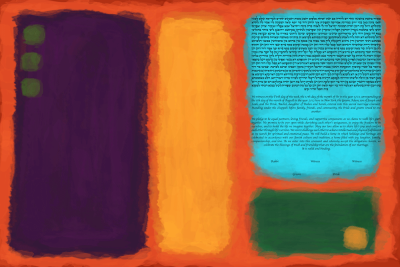 The Rectangular Color Study Ketubah