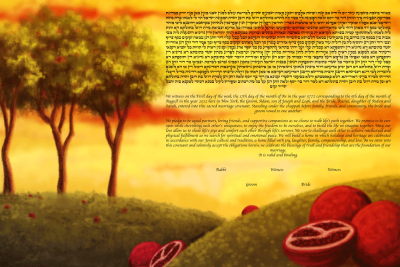 The Pomegranates Ketubah