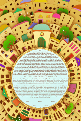The Around Jerusalem Ketubah