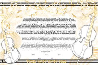 The Paper Music Ketubah