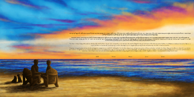 The Lovers' Sunset Ketubah