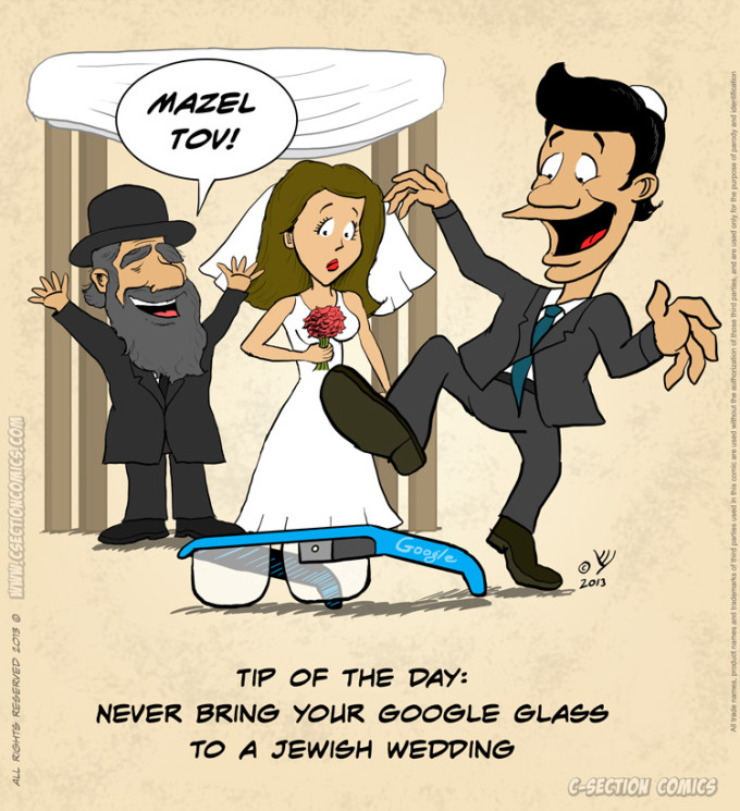 Google Glass Jewish Weddings