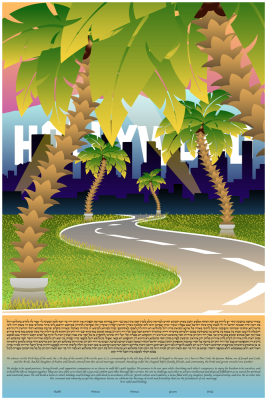 The Hollywood Lights Ketubah