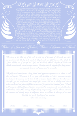 The Love Letters Ketubah