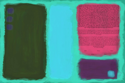 The Rectangular Color Reef Ketubah