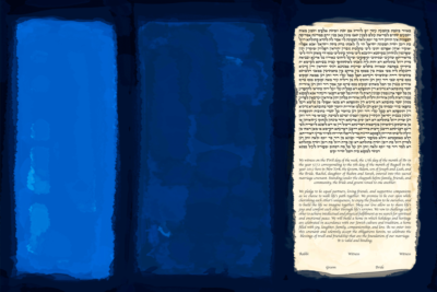 The Blue No. 18 Ketubah