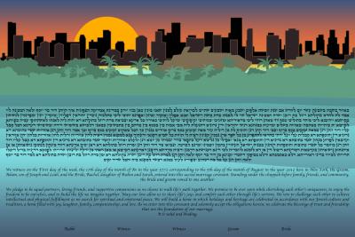 The Miami Skyline Ketubah