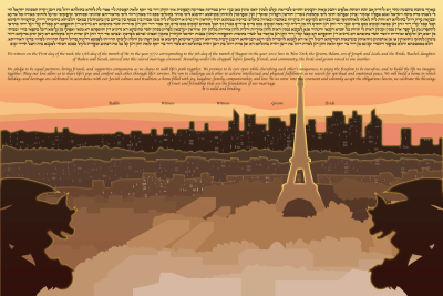 The Paris Skyline Ketubah