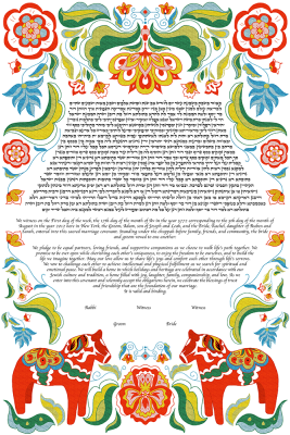 The Dalecarlians Of Love Ketubah