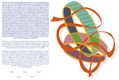 The Entwined Rings Ketubah