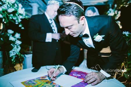 Tosh Signing Ketubah