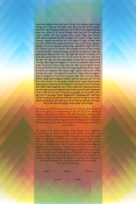 The Rainbow Love Ketubah