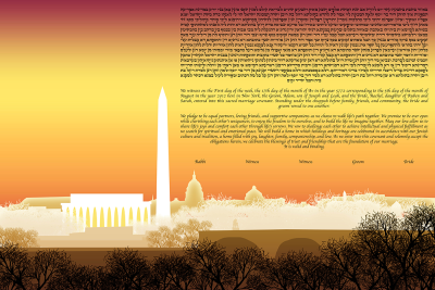 The Washington Skyline Ketubah