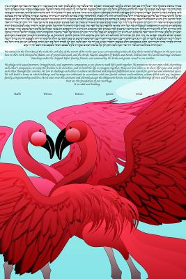 Flamingos In Love Ketubah