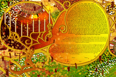 The Hanukkah Lights Ketubah
