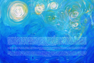 The Into The Night Ketubah