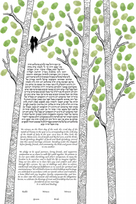 The Birch Tree Ketubah