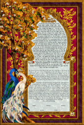 Birds of Paradise II Ketubah