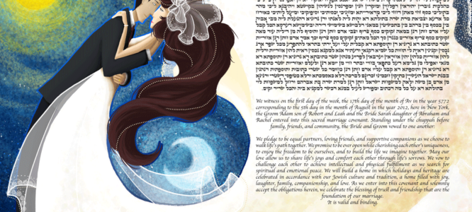 Wedding Ketubah to Eternalize the Most Special Day of Them All
