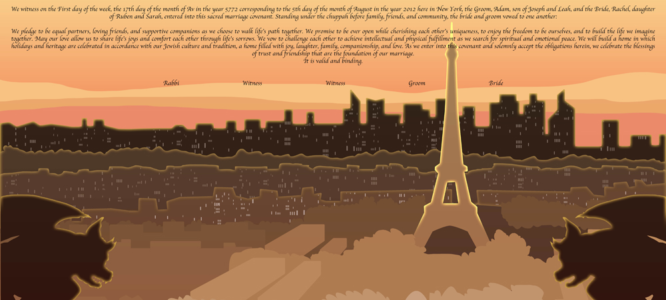 Paris: Ketubah of Love and Light