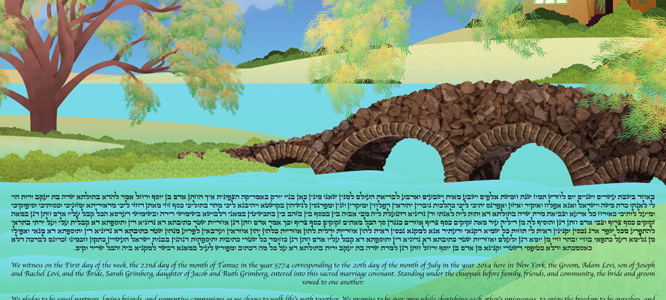 The Water Element Ketubah