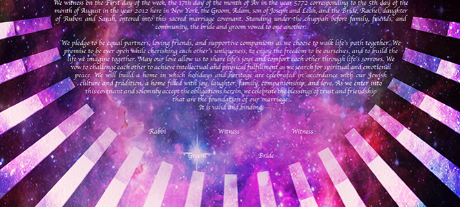 Out-Of-This-World Love: Space Ketubah