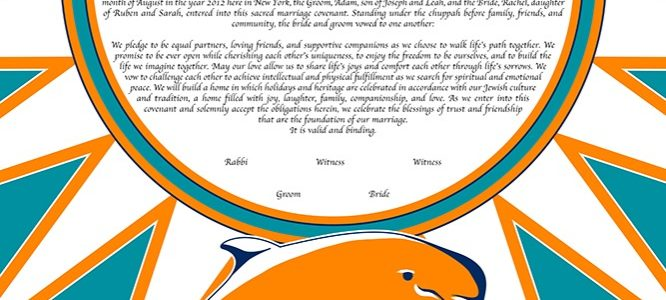 Go Team Love: Sports Ketubah