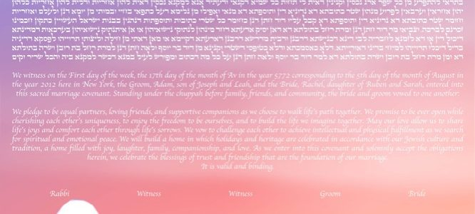 Symbols of Peace and Eternal Love: Ketubah with Doves