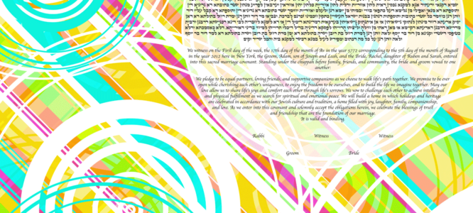 Your Personal Time Machine: Retro Ketubah