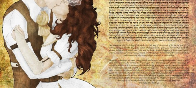 Go Back to the Impactful, Mystical Era: Victorian Ketubah
