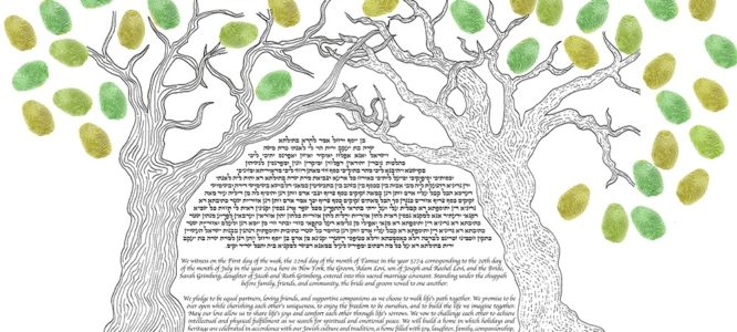 The Perfect Click: Connection Ketubah
