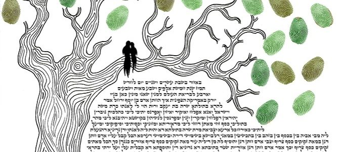 Leave Your Mark On The World: Fingerprint Ketubah
