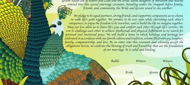 Wear Your True Colors with Pride: Peacock Ketubah