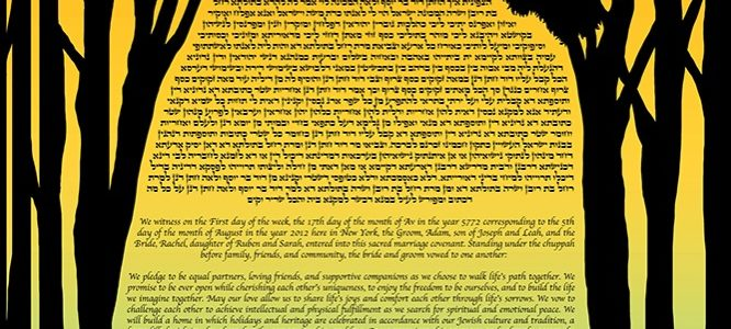 Lungs of Our Planet – Ketubah with Trees