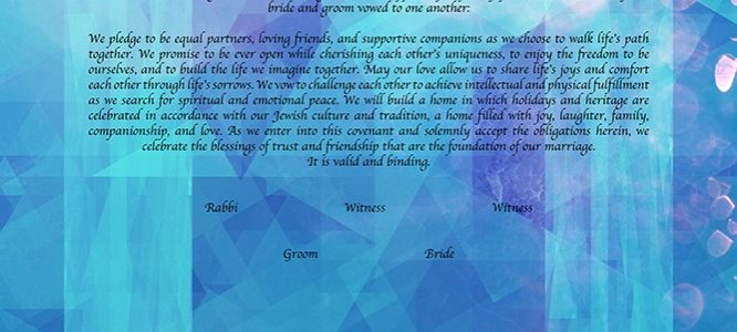 Crystallized Energy: Ketubah with Crystals